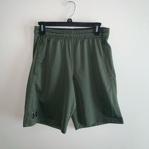 Under Armor Men's Army Green Mesh Shorts Sz Medium